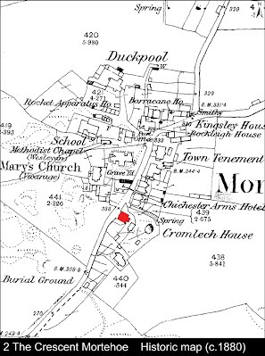 2 The Crescent, Mortehoe Historic map c.1880
