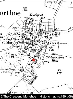 2 The Crescent, Mortehoe Historic map c.1904-06