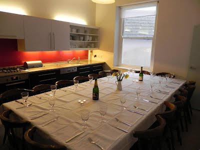 dining table configured to seat 18